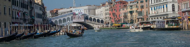 Ponte Rialto, Grande Canal, Lagoa de Veneza, Italia
