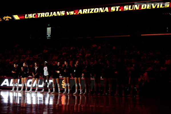 USC Women's Volleyball v ASU 2012
