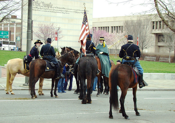 Calvary division of Civil War Parade in Philadelphia,PA
