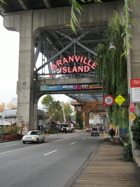 Oct. 19/13 - Under the Granville Island bridge