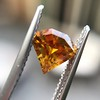 .84ct Fancy Deep Orange-Yellow Shield Shape Diamond, GIA 8