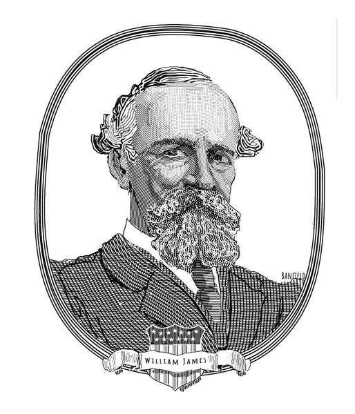 Portrait of psychologist Henry James