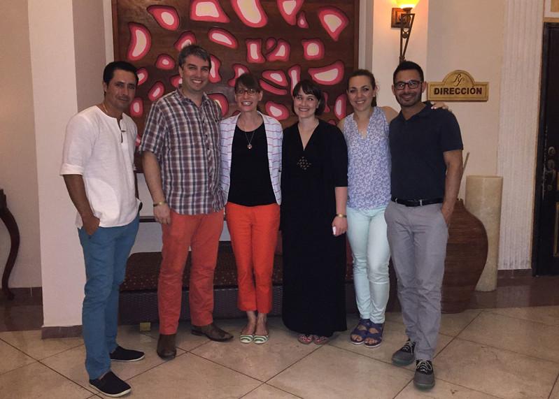 Jose, Keith, Natalie, Kristin, Sara and Jeremy at the Meliá Paradisus in Varadero - Kristin Cass