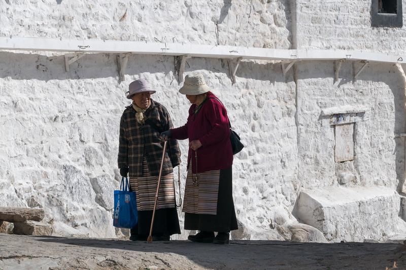 Ladies at Drepung Monastery