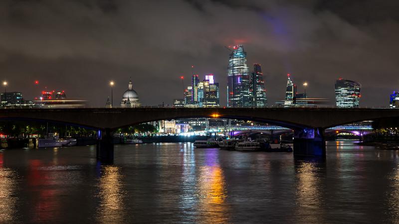 Waterloo Bridge and the London skyline