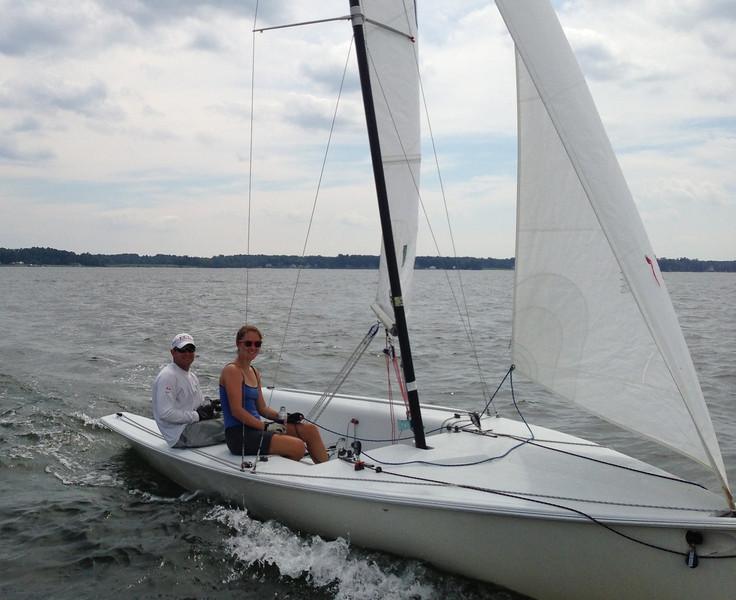 7/27 Front Runner sailing in the FBYC Summer Sea Breeze Regatta with Marie.