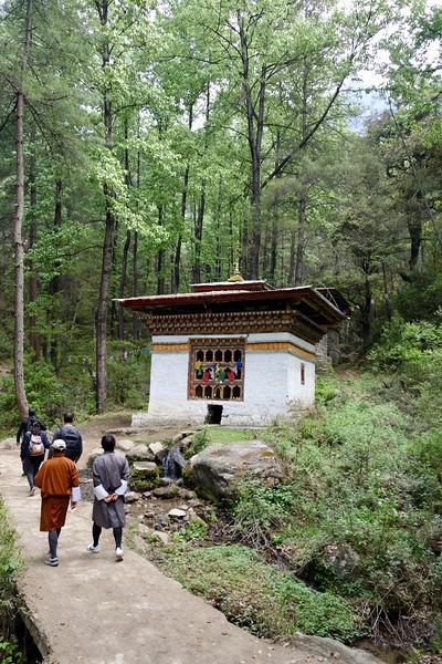 on the hike up to Taktshang Goemba monastry