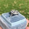 2.85ct Antique Cushion Cut Diamond Halo Ring 41