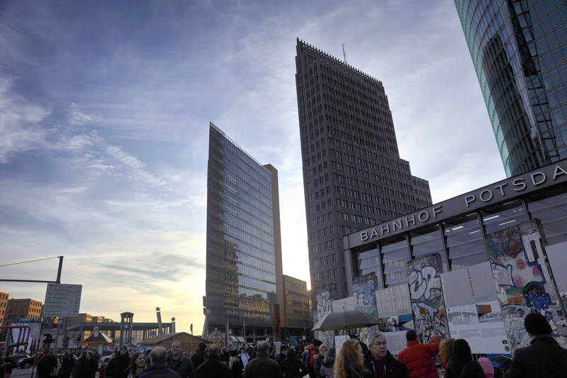 From left: 11 Potsdamer Platz, Kollhof Building & DB Building.