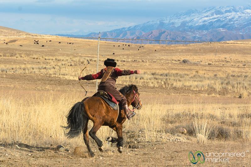 Archery on Horseback, Sulburuun Federation - Southern Shore, Kyrgyzstan