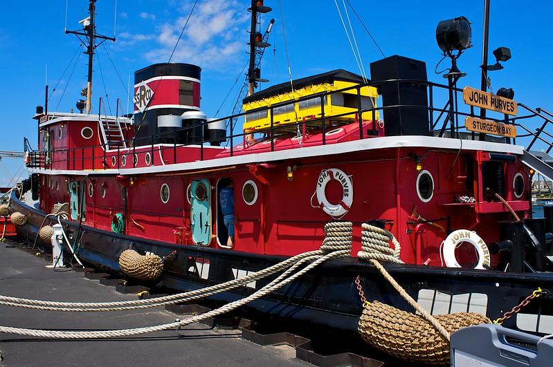 The John Purves a restored tugboat. Sturgeon Bay Wisconsin.