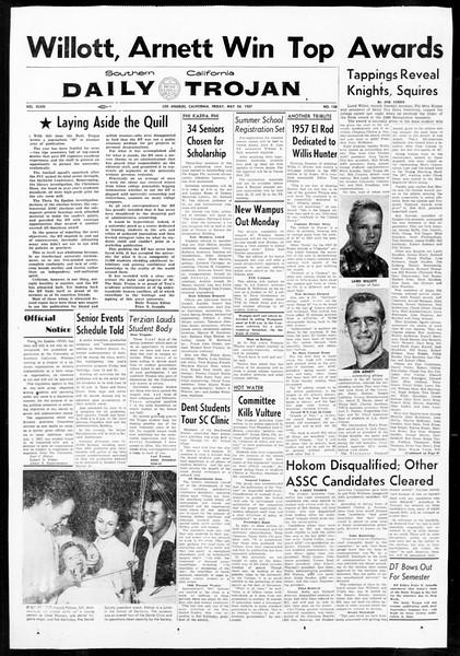 Daily Trojan, Vol. 48, No. 138, May 24, 1957