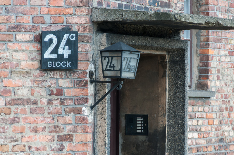 One of the buildings in Block 24 at Auschwitz Birkenau in Poland