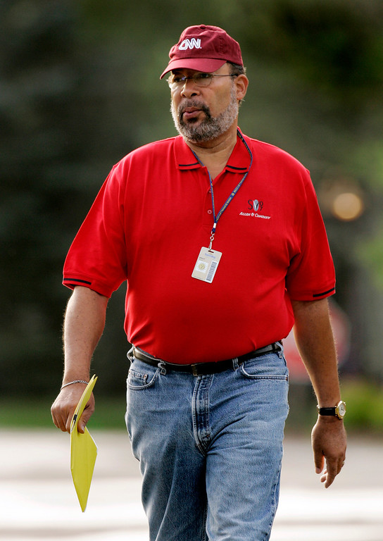 . Richard Parsons, chairman and CEO of Time Warner, arrives for the annual Allen and Co.\'s media conference Wednesday, July 11, 2007, in Sun Valley, Idaho. (AP Photo/Douglas C. Pizac)