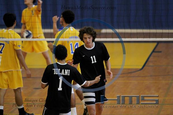 Iolani Boys Volleyball - Pun 3-20-14