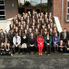 New pupils for Newry High school. Principal Mr McVeigh, Year Head Mrs Dalzell and tutors Miss Harrington, Miss Hamilton and MrMcKee welcome the Year 8 pupils to the school. 06W36N22