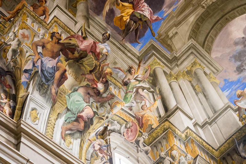 ornate ceiling art