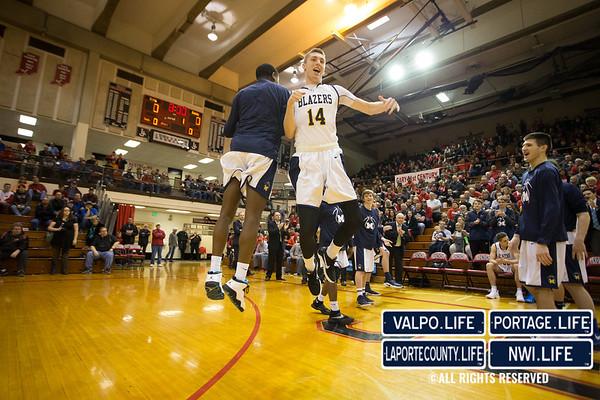 IHSAA Boys Basketball Semi-State 2017 Frankton vs. Marquette Catholic
