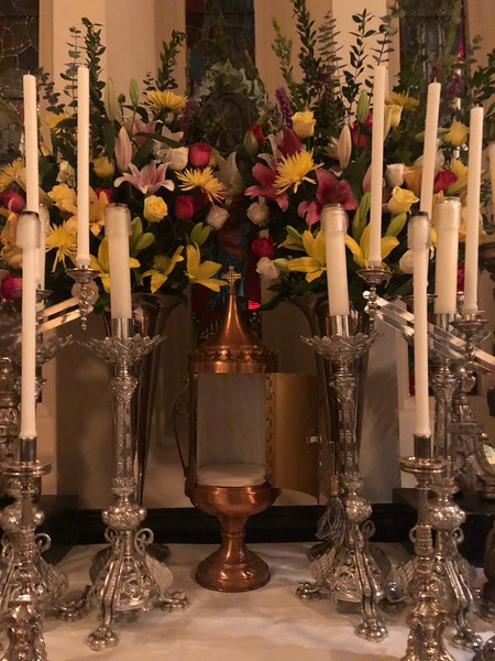 the capsula at the altar of repose before the High Mass