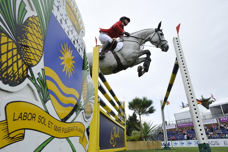 JUMPING : Steve GUERDAT sur Nasa COUPE DES NATIONS 2012 -  CSIO DE LA BAULE 2012 - PHOTO : © CHRISTOPHE BRICOT