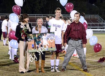 Ballard Soccer Senior Night 2012