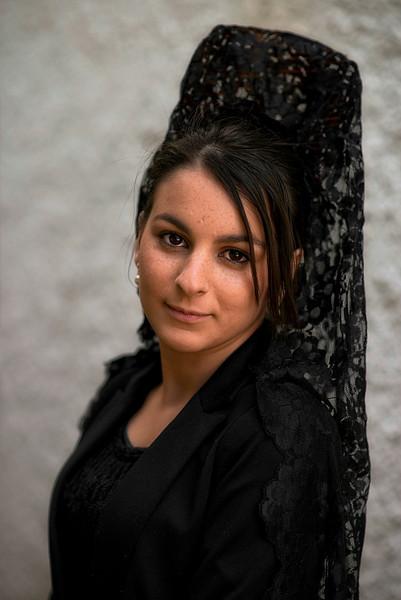 Young Spanish catholic lady.