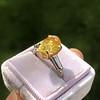 3.00ct Yellow Orange Sapphire Solitaire 6