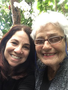 Bronx Botanical Gardens with Mom to see the Cherry Blossoms and Orchid Show,  April 17, 2019