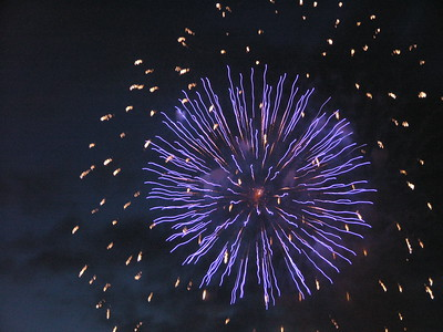 The yearly Vancouver firework world championship