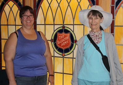 Major Sharon Whispell and Her Mother, Chapel, Salvation Army, Tamaqua (8-22-2014)