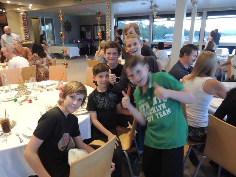 The boys!! Jez, Michael, Eden, Jayden, Harry & Tom at the Combat Karate Christmas Party 2013