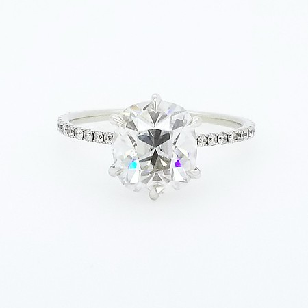 Antique Cushion Moissanite Ring