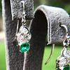 2.00ctw+ Emerald and Diamond Art Deco Conversion Earrings 10