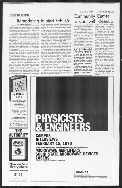 Daily Trojan, Vol. 61, No. 69, February 06, 1970