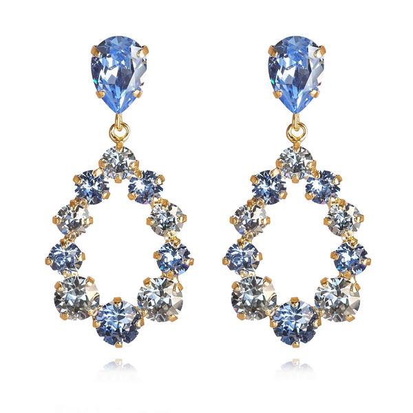 Delia Earrings /Light Sapphire + Blue shade