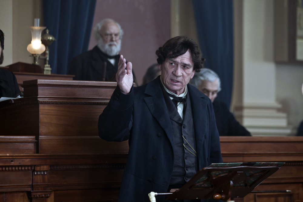 ". This image released by DreamWorks II Distribution Co., LLC and Twentieth Century Fox Film Corporation shows Tommy Lee Jones in a scene from ""Lincoln.\""  Jones was nominated Thursday, Dec. 13, 2012 for a Golden Globe for best supporting actor for his role in the film. The 70th annual Golden Globe Awards will be held on Jan. 13. (AP Photo/DreamWorks II Distribution Co., LLC and Twentieth Century Fox Film Corporation, David James)"