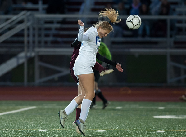 10/29/18 Wesley Bunnell | Staff Bristol Central girls soccer hosting Bristol Eastern on Monday evening. Meredith Forman (16).