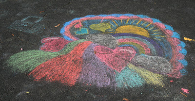 CHALK4PEACE 2008 Girl Scout Troop 862, Alexandria, VA