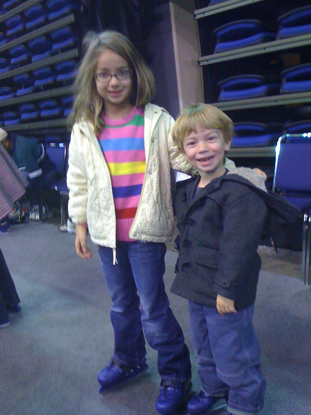 They needed a break from putting on their skates.