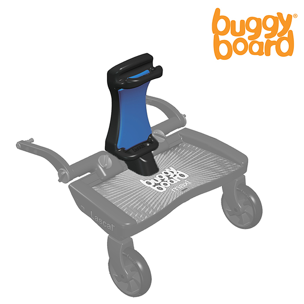Lascal_Buggyboard_Saddle_Blue_Product_Shot_Side_Angle_Left_On_Buggyboard_Saddle_Folded.jpg