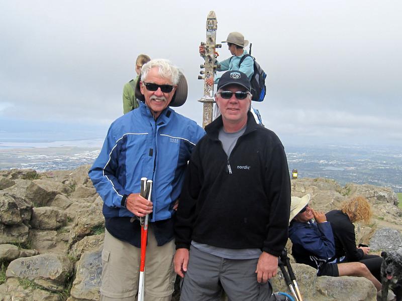 Loel with Dad on Mission Peak 5:7:2011.JPG