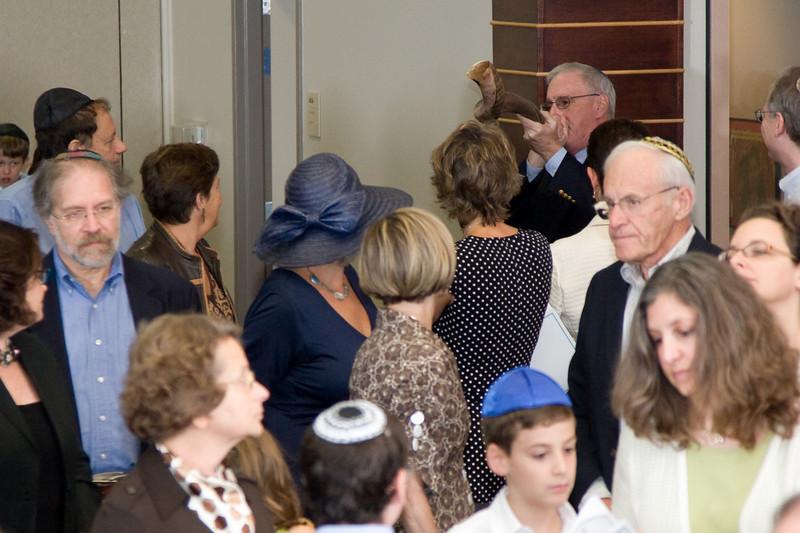 Opening Shofar blast (#3) -- Siyum HaTorah -- Beth El's Project 613: Writing a Torah