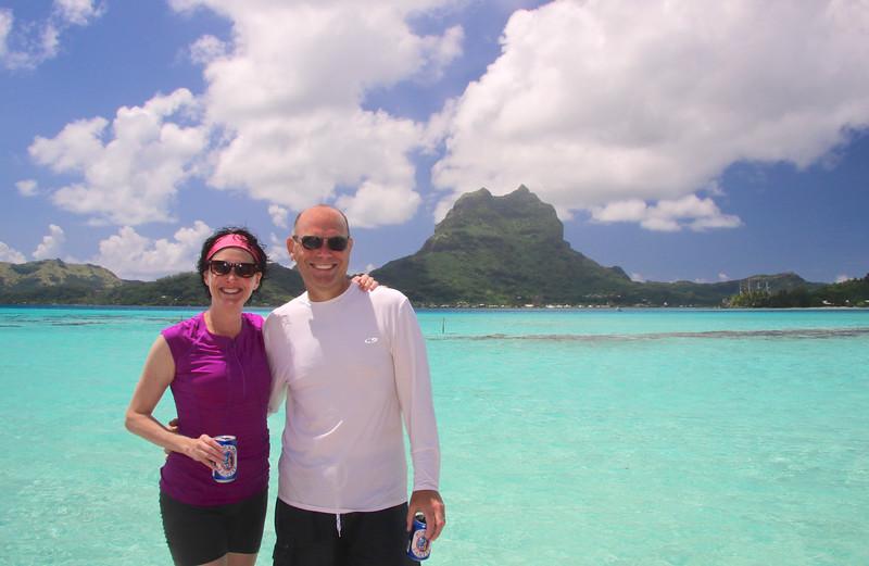 Taking a beach break on our 1/2 day tour with Raanui Tours - Bora Bora