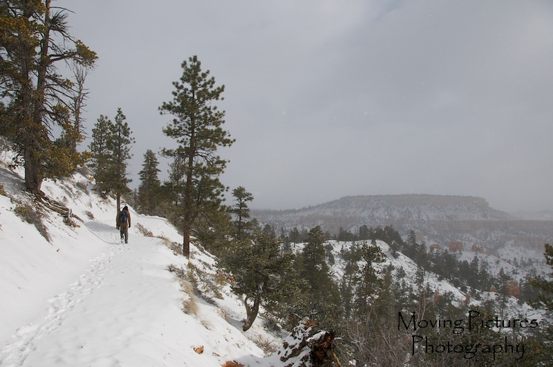 Bryce Canyon National Park - Fairyland Loop trail - we put on crampons for the 8 mile hike