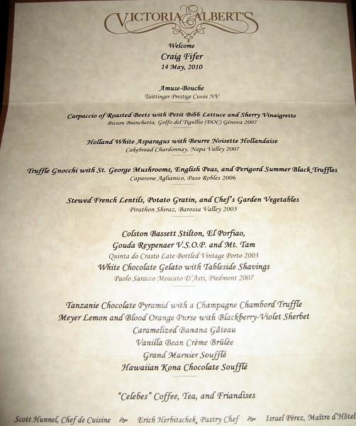 My vegetarian menu