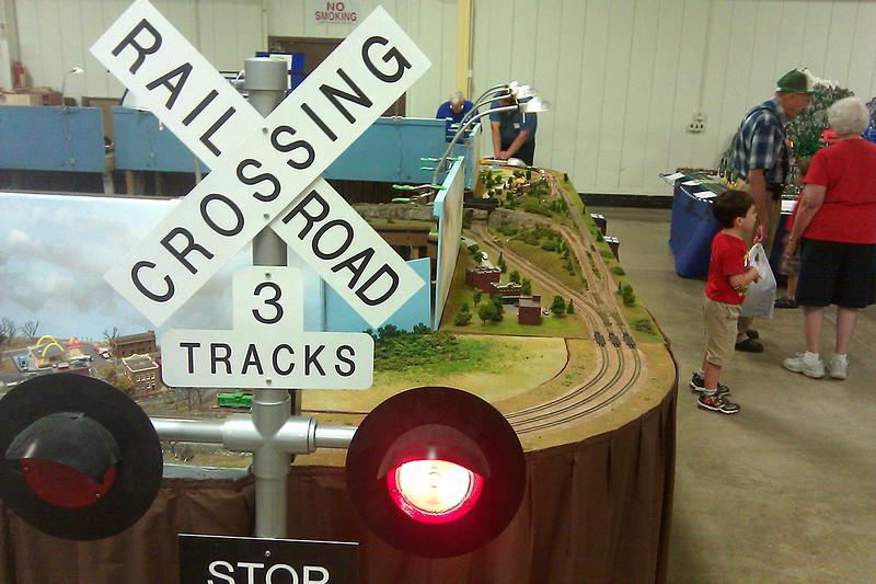 """3 Tracks"" Railroad Crossbuck Sign"