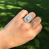 2.23ctw Old European Cut Diamond Filigree Ring 5