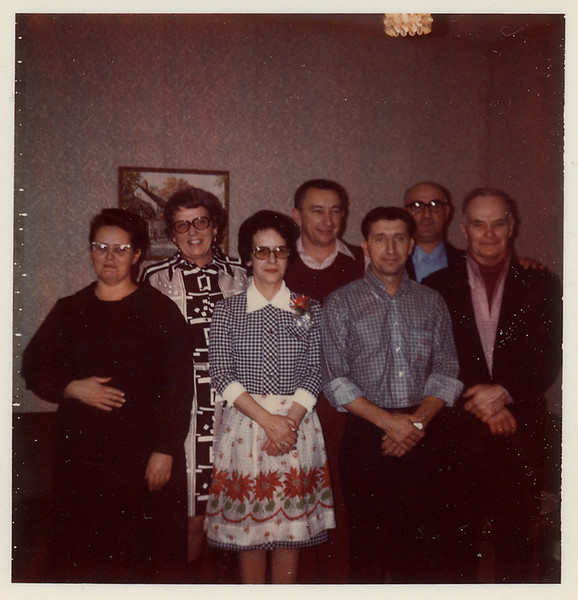 """""""The Outlaws"""".  Virginia, Jane, Doris, Bill, Billy, Frank and Cecil."""