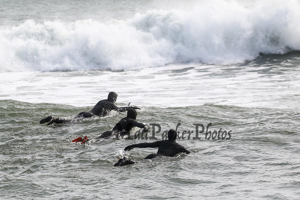 2020-3-8 Surfing at Rye Beach