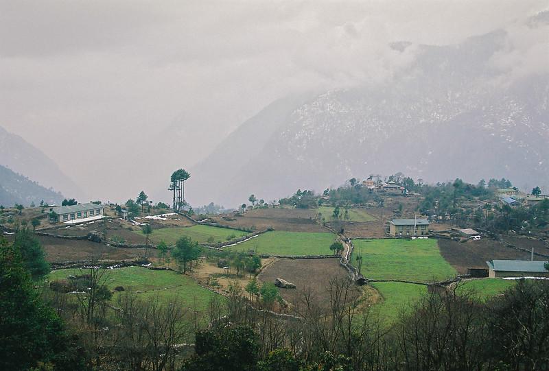 Lowland fields above Lukla